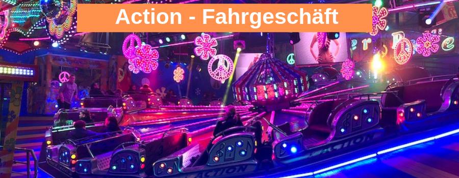 Action Fahrgeschäft auf dem Hamburger Dom