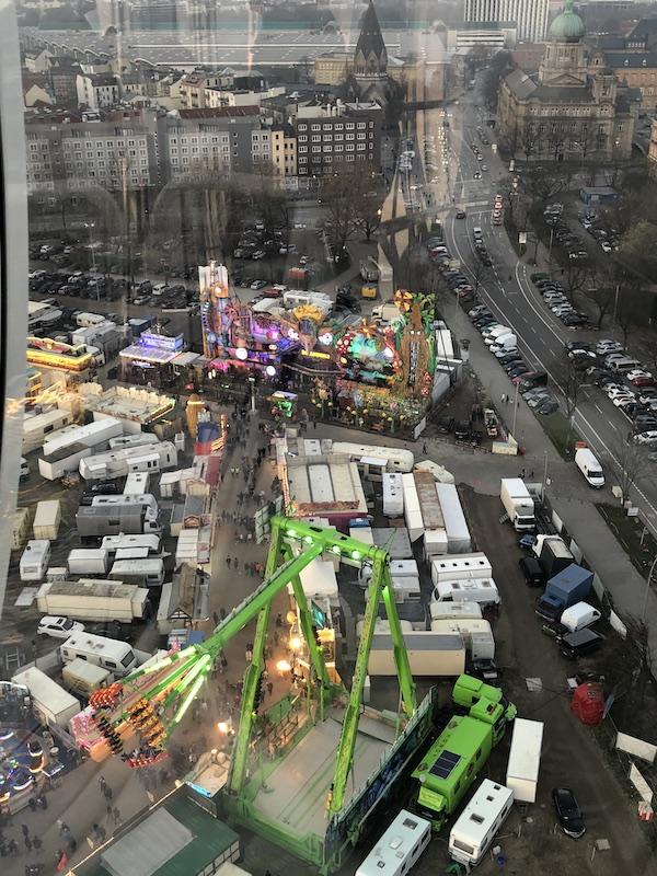 Blick auf dem Hamburger Frühlingsdom 2019